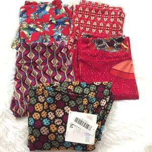 Lularoe Bundle Lot OS Leggings *FREE*AZURE Vintage